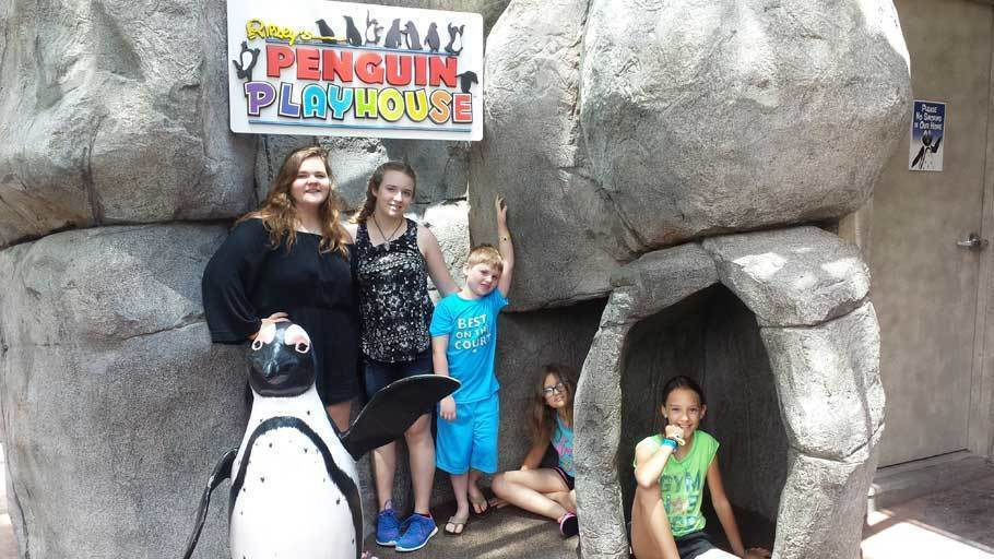 Our 5 kids at the Penguin Playhouse