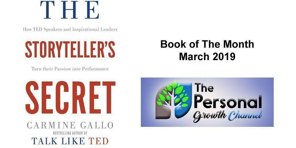 Personal Development Book of The Month The Storyteller's Secret