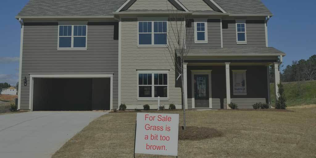 House for sale - grass is too brown