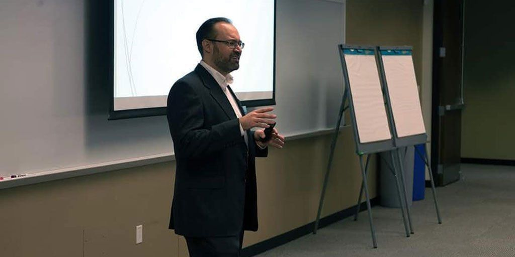 Don Smith, founder of The Personal Growth Channel, conducting a workshop