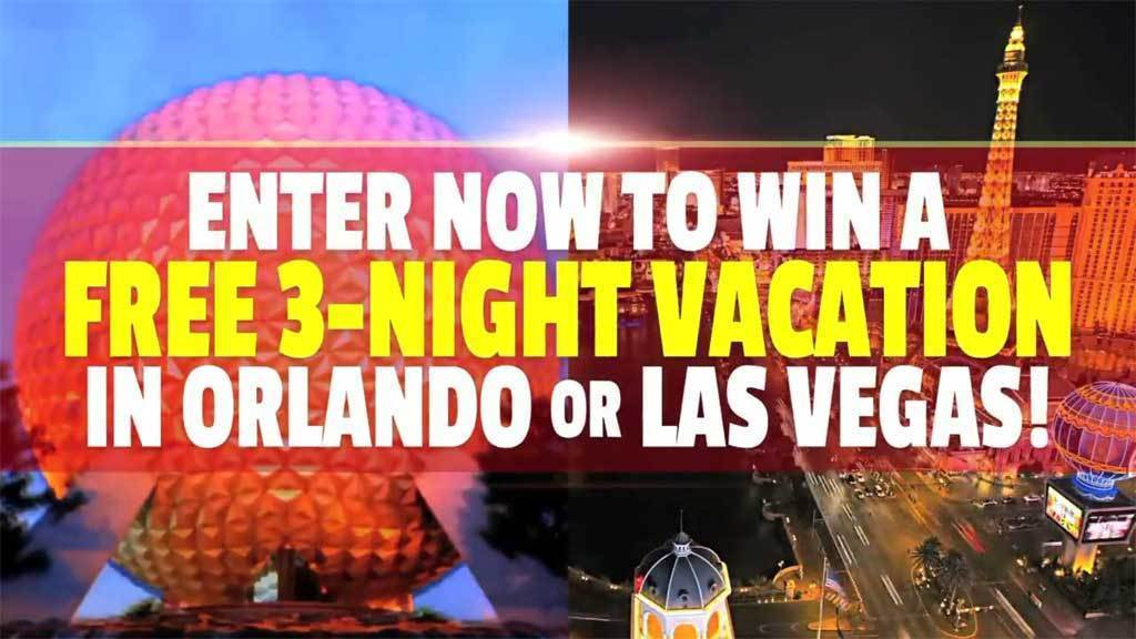 Send in your weight loss story now to win a 3-night vacation in Orlando or Las Vegas!