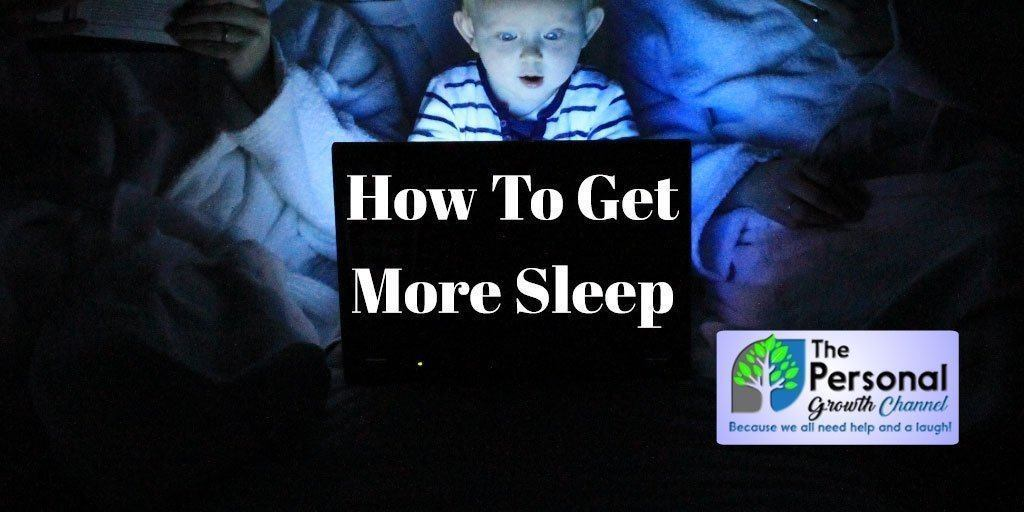 How To Get More Sleep: Child Looking at Computer In Bed