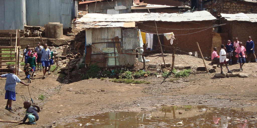 Mathare Valley Kenya - People living in actual poverty