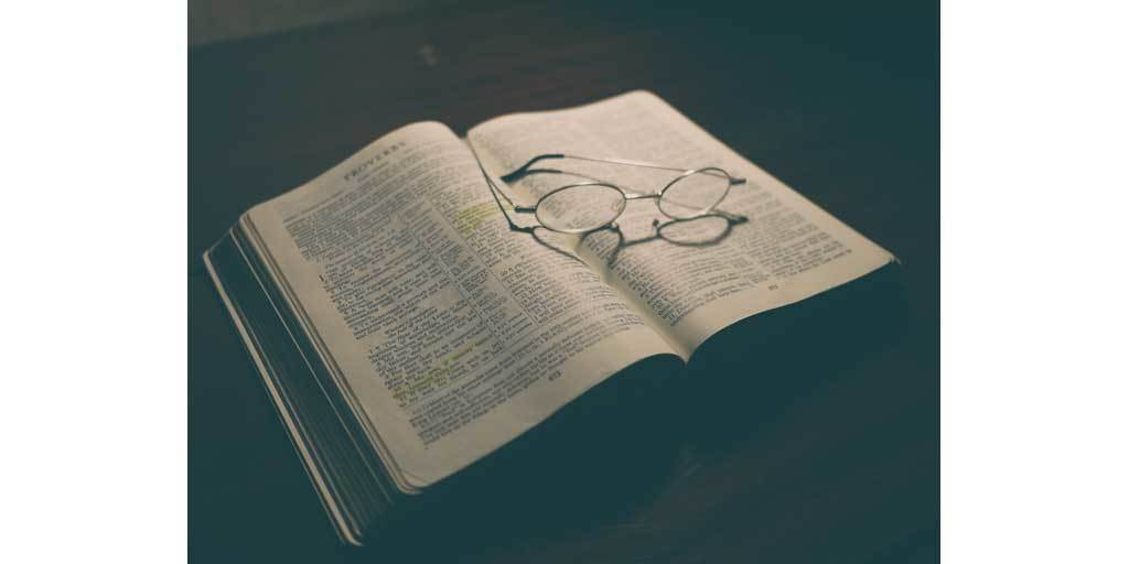 Bible open to the book of Proverbs
