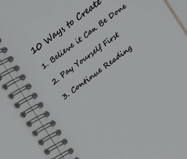 Steps for creating wealth in notebook