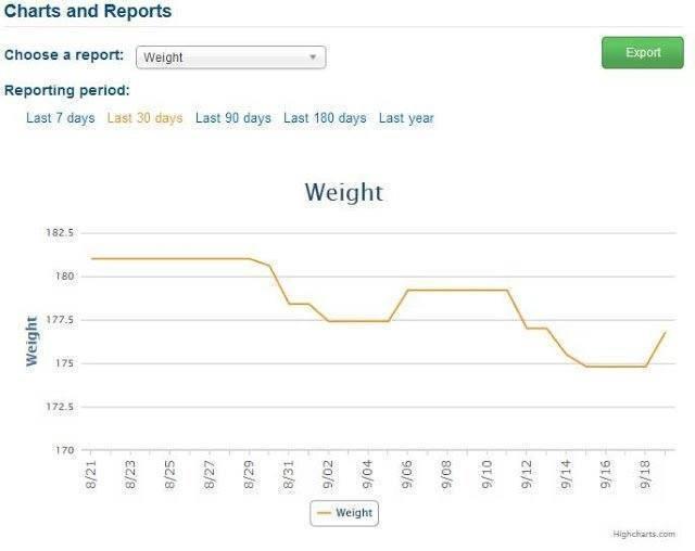 Weight Loss Journey Chart