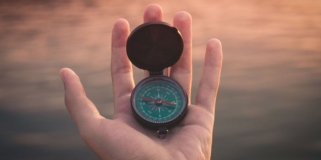 Recommendations for personal development and website creation - photo of a compass
