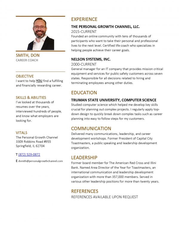 Resume Review With a Career Coach
