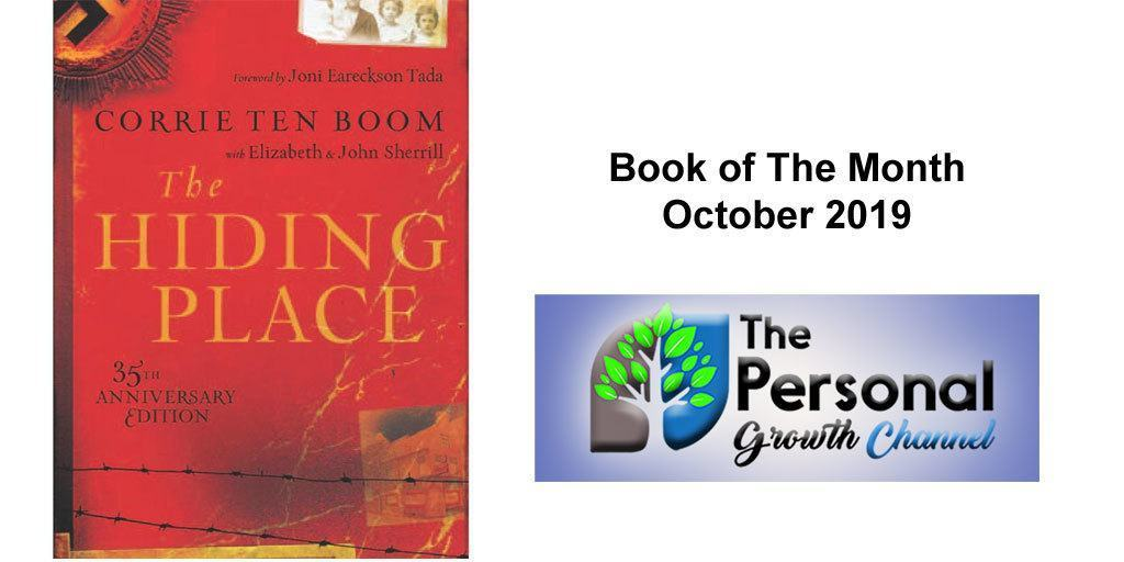 The Hiding Place by Corrie Ten Boom. Personal development book of the month October 2019