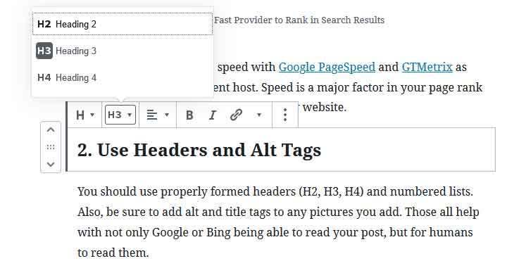 Using proper headers for SEO will help your site rank higher in search results.