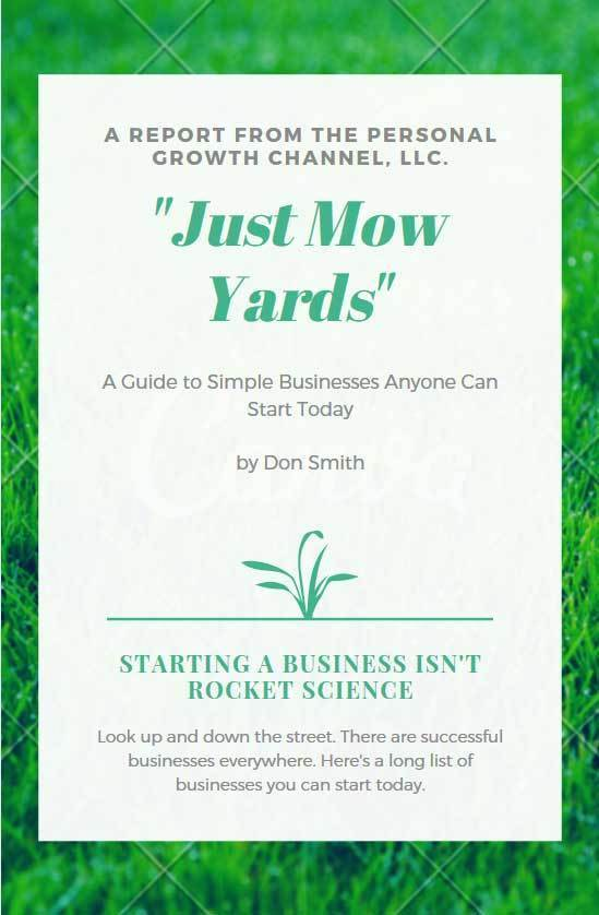 Just Mow Yards - Simple Business Ideas