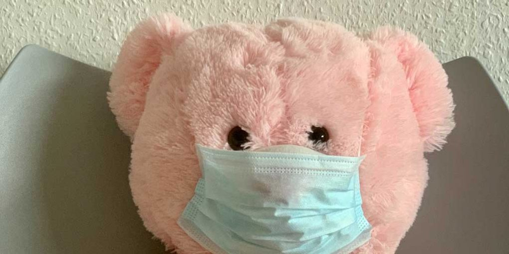 Productive things to do while quarantined - bear with mask