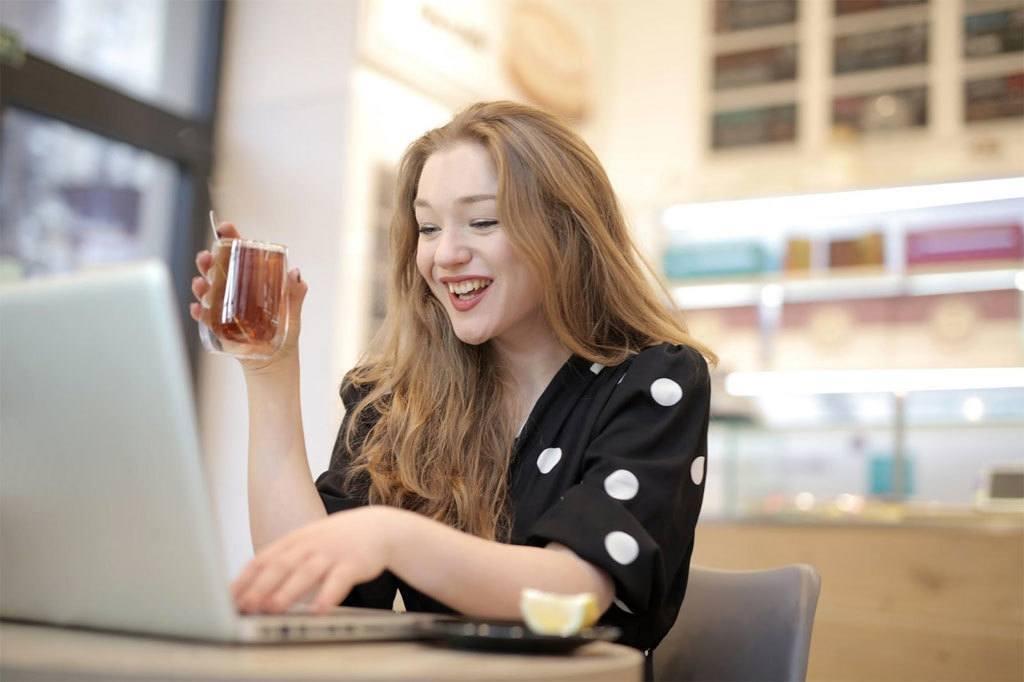 Entrepreneur on a laptop