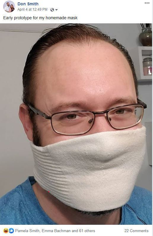 Funny coronavirus mask made by business coach